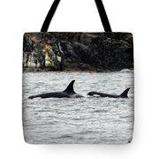 Orcas In The Salish Sea Tote Bag
