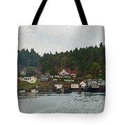 Orcas Island Dock Digital Tote Bag