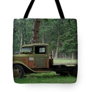 Orcas Island Old Truck Tote Bag