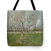 Orchard In Blossom Plum Trees Tote Bag