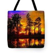 Orchard Lake Sunset Tote Bag