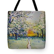 Orchard Path Tote Bag