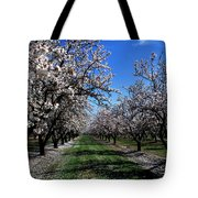 Orchard Trees Blossoming Tote Bag
