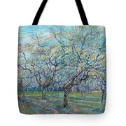 Orchard With Blossoming Plum Trees   Tote Bag