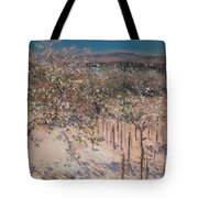 Orchard With Flowering Apple Trees Tote Bag