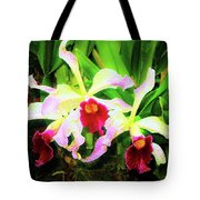 Orchid Flowers Color 1 Tote Bag