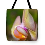 Orchid In Profile Tote Bag