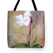 Orchid In White 3 Tote Bag