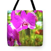 Orchid Oil Painting Tote Bag