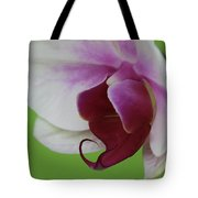 Orchid On Green Tote Bag
