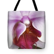 Orchid Portrait In Craquelure Tote Bag