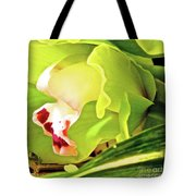 Orchid With Yellow And Green 2 Tote Bag