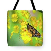 Orchids And Butterfly Painting Tote Bag