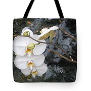 Orchids And Water Tote Bag
