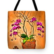 Orchids In Basket Tote Bag
