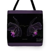 Orchids In Neon Tote Bag