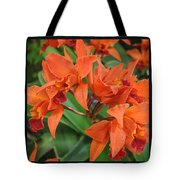 Orchids Vertical Triptych Tote Bag