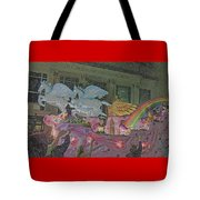 Order Of Polka Dots Emblem Float - Side View - Colored Pencil Tote Bag