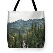 Oregon Cascade Range Tote Bag