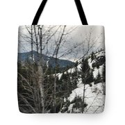 Oregon Cascade Range Trees Tote Bag