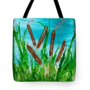 Oregon Cattails Tote Bag