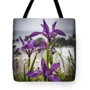 Oregon Iris At The Beach Tote Bag