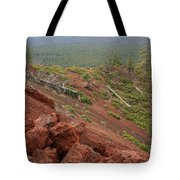 Oregon Landscape - Red Rocks At Lava Butte Tote Bag