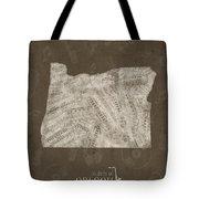 Oregon Map Music Notes 3 Tote Bag