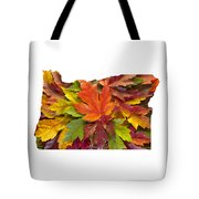 Oregon Maple Leaves Mixed Fall Colors Background Tote Bag