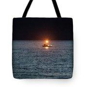 Oregon Night Fishing Tote Bag by Tom Singleton
