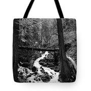 Oregon River Black And White Tote Bag