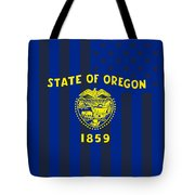 Oregon State Flag Graphic Usa Styling Tote Bag