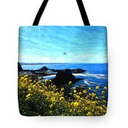 Oregon Wild Flowers Water Color Tote Bag
