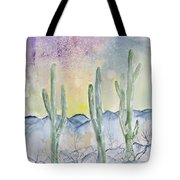 Organ Pipe Cactus Desert Southwestern Painting Poster Print Tote Bag