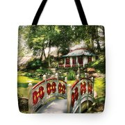 Orient - Bridge - The Bridge To The Temple  Tote Bag by Mike Savad