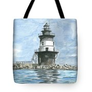 Orient Point Lighthouse Tote Bag