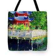 Orient Swan Pagoda Tote Bag