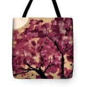 Oriental Plum Blossom Tote Bag