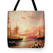 Oriental Sailor Chiefs Gathered For A Meeting On The Shores Of The Black Sea Tote Bag