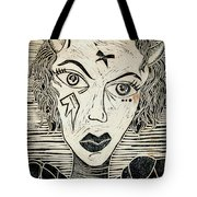 Original Devil Block Print Tote Bag