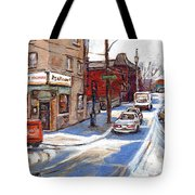 Original Montreal Paintings For Sale Tableaux De Montreal A Vendre Pointe St Charles Scenes Tote Bag