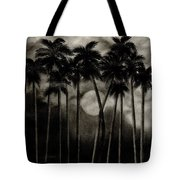 Original Moonlit Palm Trees  Tote Bag