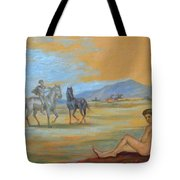 Original Oil Painting Art Male Nude With Horses On Canvas #16-2-5 Tote Bag