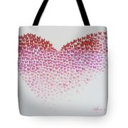 Original Oil Painting Heart, Painting Butterflies, Valentines Day Art, Wall Art Love Tote Bag
