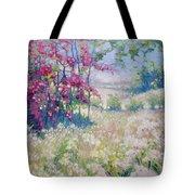 Original Oil Painting - Spring Meadow In Sussex Tote Bag