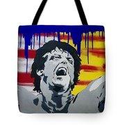 Original Painting Rocky Balboa Tote Bag