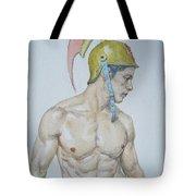 Original Watercolor Painting Male Nude Man #17511 Tote Bag