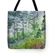 Original Watercolor - Summer Pine Forest Tote Bag