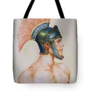 Original Watercolour Painting Art Male Nude Portrait Of General  On Paper #16-3-4-19 Tote Bag