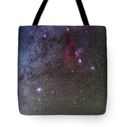 Orion And Canis Major With The Dog Star Tote Bag